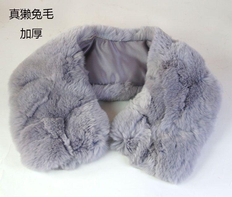 真獭兔毛领子 獭兔毛拼接加厚毛领假领装饰领 皮草围巾围脖