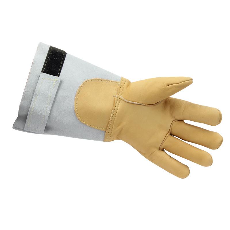 霍尼韦尔2281561非一次性牛皮消防员手部防护防水耐高温手套乳白