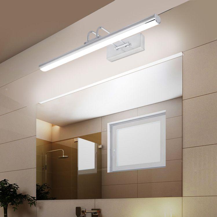 防水led镜前灯厂家现代简约不锈钢防水防雾浴室灯卫生间镜灯壁灯