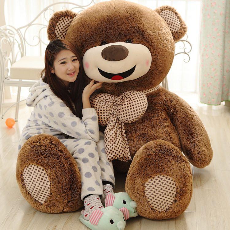 出口正版开心泰迪熊超大号抱抱熊毛绒公仔玩具玩偶生日礼物女批发