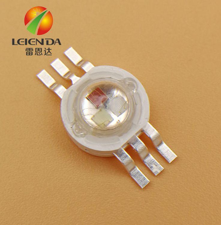 厂家热销 1W红绿蓝RGB全彩LED灯珠 1w六脚RGB大功率集成光源