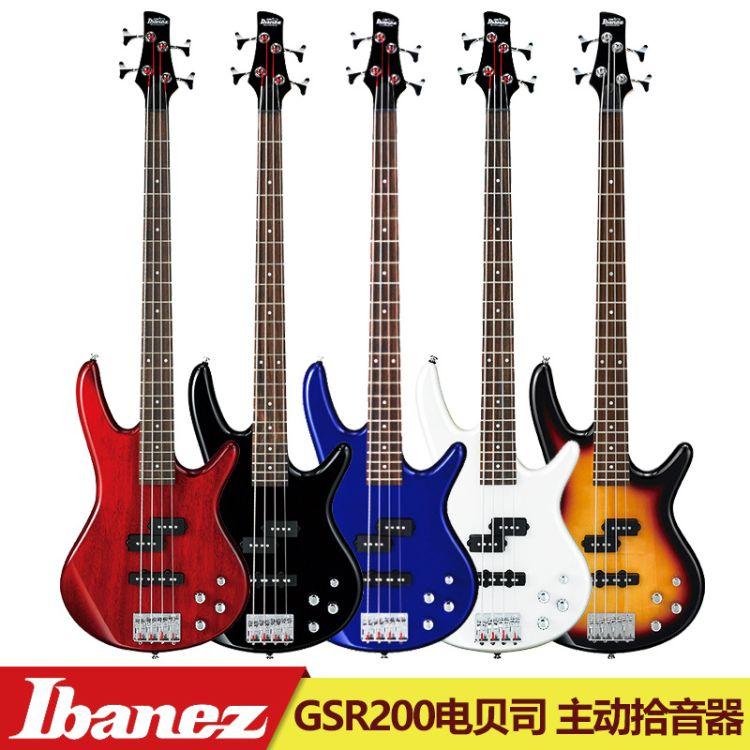 官方授权IBANEZ依班娜GSR200电贝司/电贝斯 四弦贝壳杉主动拾音器