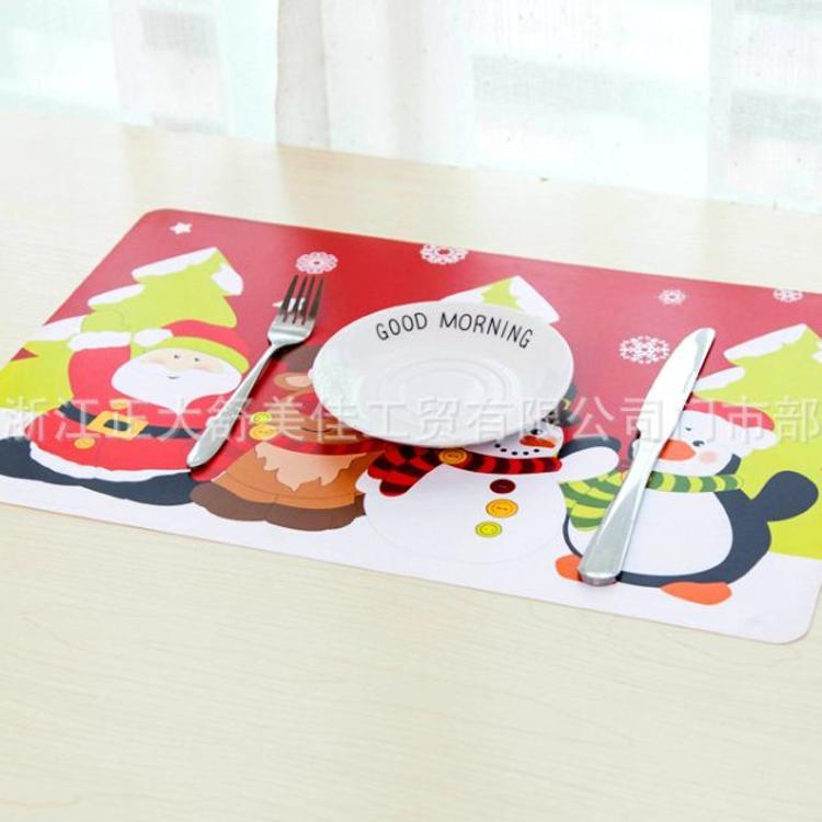 BSCI SEDEX验厂德国LFGB测试塑料餐垫桌垫圣诞餐垫礼物圣诞老人