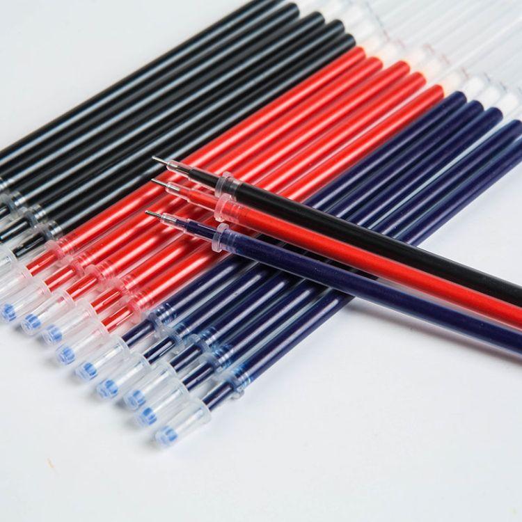 学生用品办公文具0.5mm中性黑色签字笔笔芯塑料定制批发厂家直销