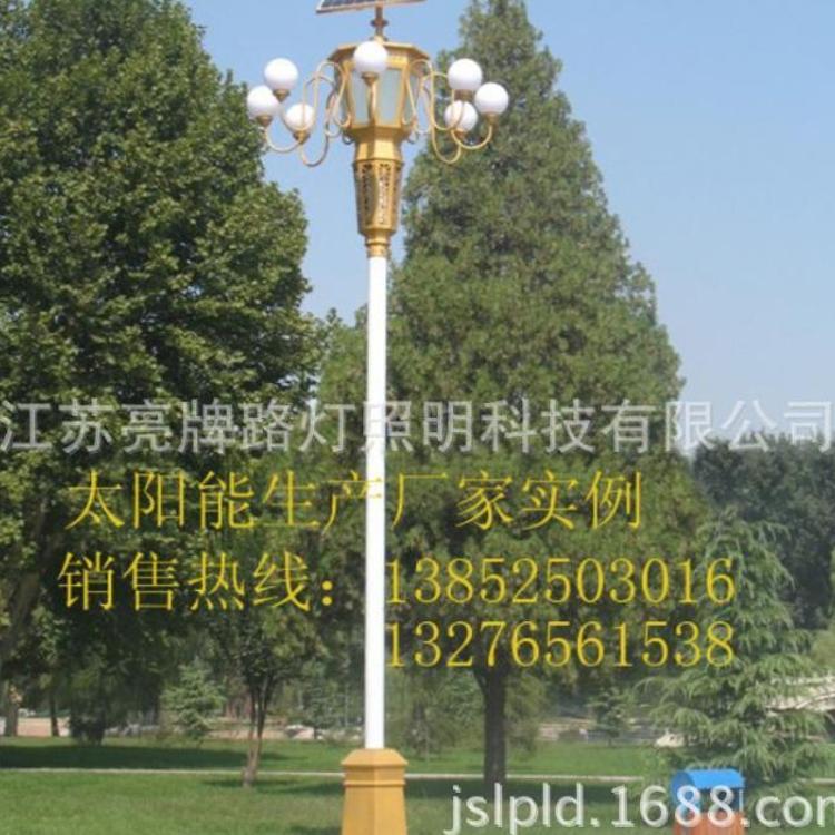 太阳能中华灯、组合灯厂家、多头LED中华灯组合灯杆、玉兰灯杆