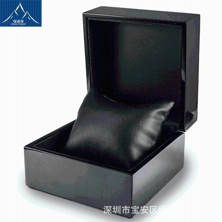 产地货源加工定制黑色亮光高档手表包装盒饰品展示盒手表包装盒