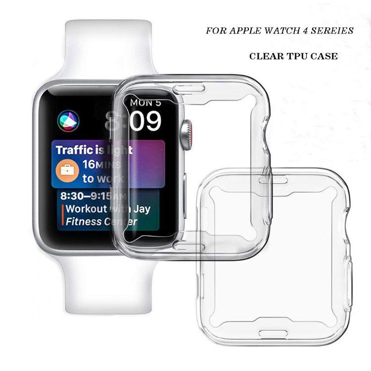 适用苹果手表4代保护套Apple Watch 4 40mm 44mm全包透明tpu软壳