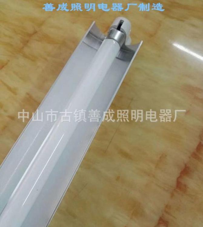 厂家直销电子式T4T5 28w白光铝材单支带罩工程支架