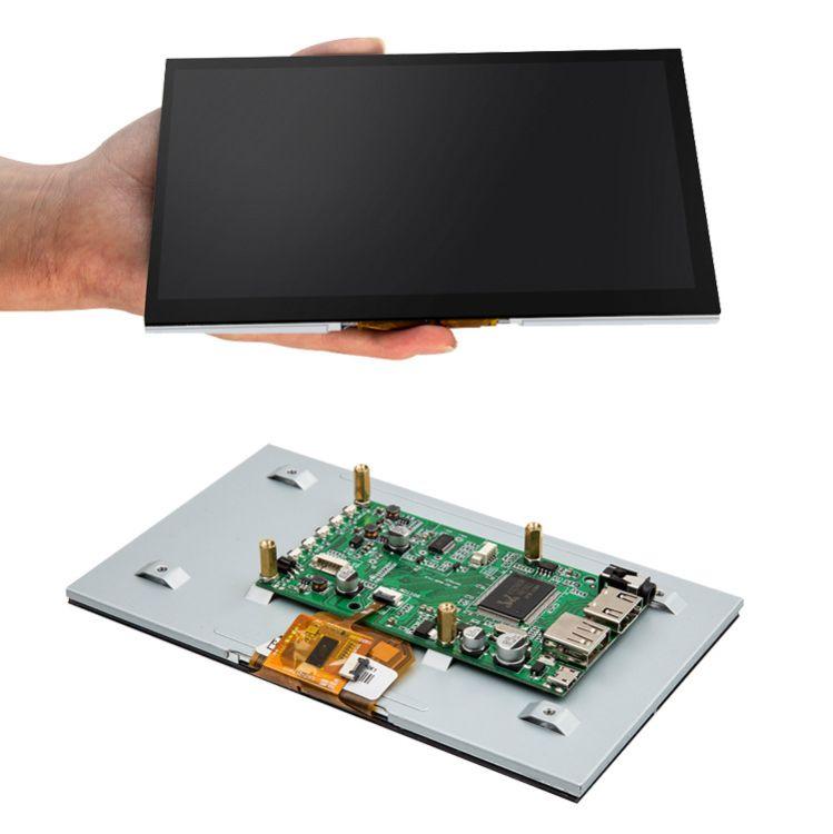 免驱动树莓派3代7寸显示屏800*480高清LCD触摸屏HDMI线USB转接线