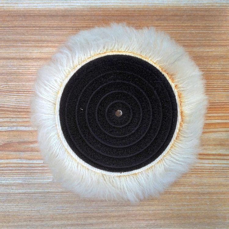 厂家直销 批发 毛纺植绒 压痕螺纹 毛布 4寸100打蜡 抛光 羊毛球
