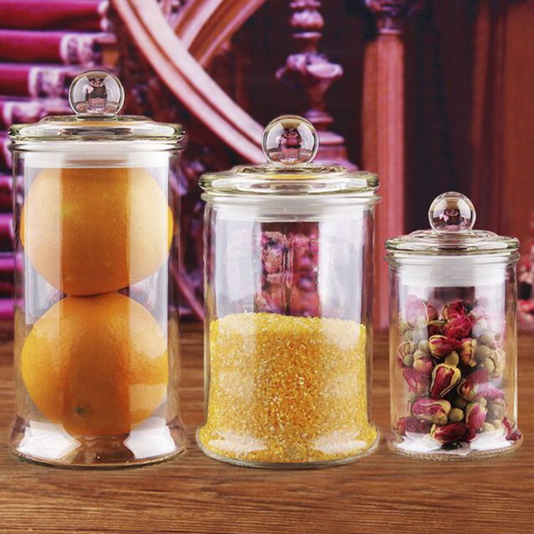 特大玻璃茶叶罐密封罐储物罐大号透明茶叶罐