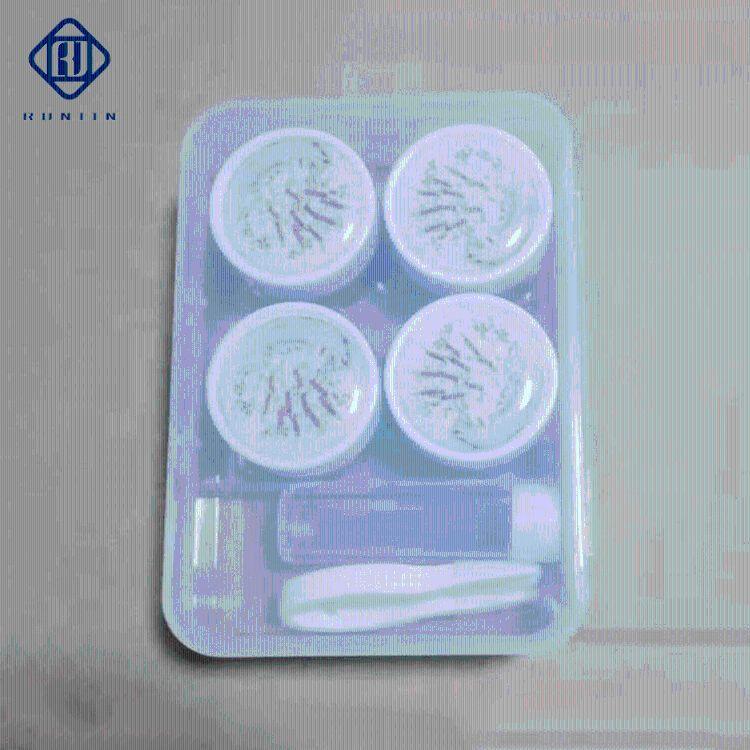 隐形眼镜盒流沙透明新款伴侣盒塑料隐形伴侣盒