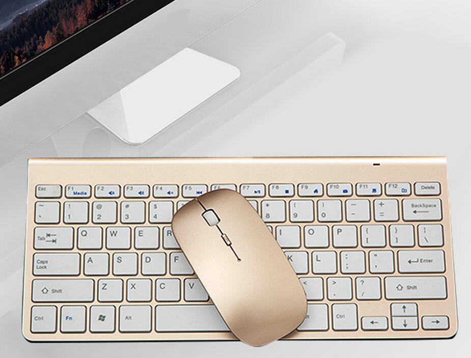 超薄时尚苹果风格无线键鼠套装迷你无声静音鼠标键盘套装厂家批发