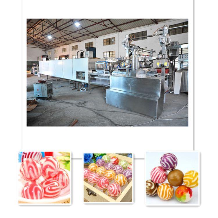 厂家直销全自动球型棒棒糖生产线  多功能全自动糖果成套设备