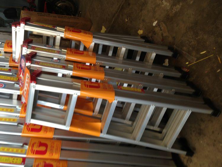 人字铝梯 铝合金人字豪华梯 多功能便携式 步步登高铝梯 家用梯
