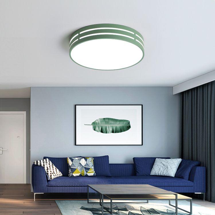 铁艺圆形简约节能led亚克力吸顶灯客房卧室灯高档家用照明新款