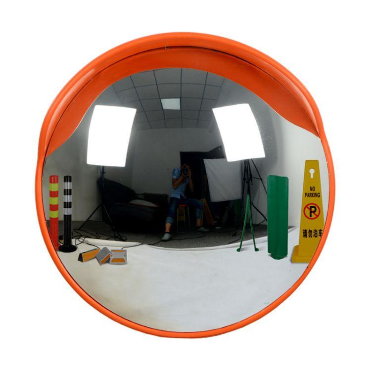 道路室外60CM广角镜凸球面反光镜交通转角镜PC弹性镜面交通反光镜
