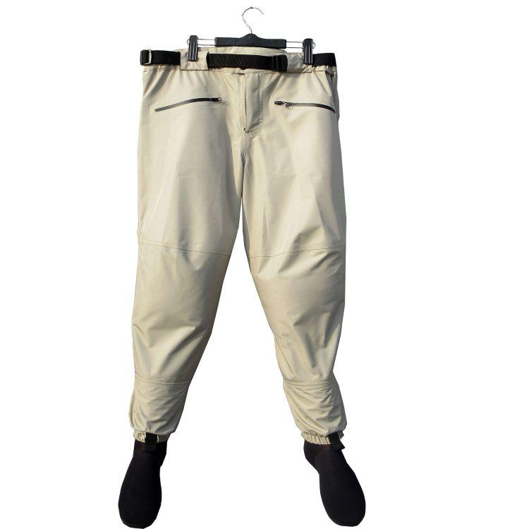 防水透气平腰款下水裤防水透湿钓鱼裤潜水料保暖袜套B37