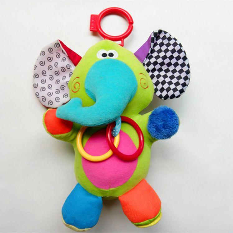 中东原单热销 婴幼儿认色辨声多功能彩色卡通大象玩具来图定制