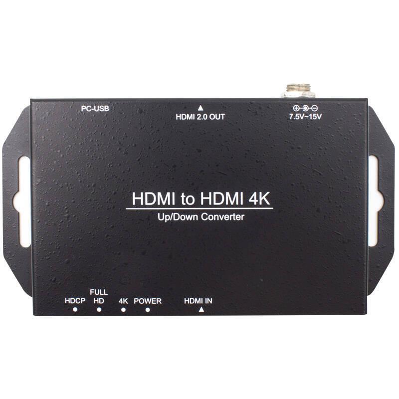 天创恒达4K视频转换器 HDMI高清1080P 2K转4K 广播级高清视频信号