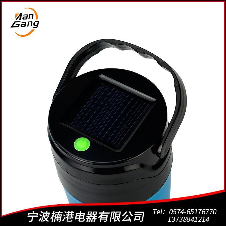 宁波厂家直销批发LED太阳能水杯露营灯 定制加印logo 手提随身杯