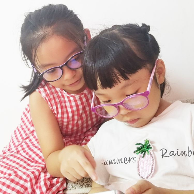 儿童青少年防蓝光手机眼镜 负离子防蓝光眼镜 配盒 硅胶鼻托