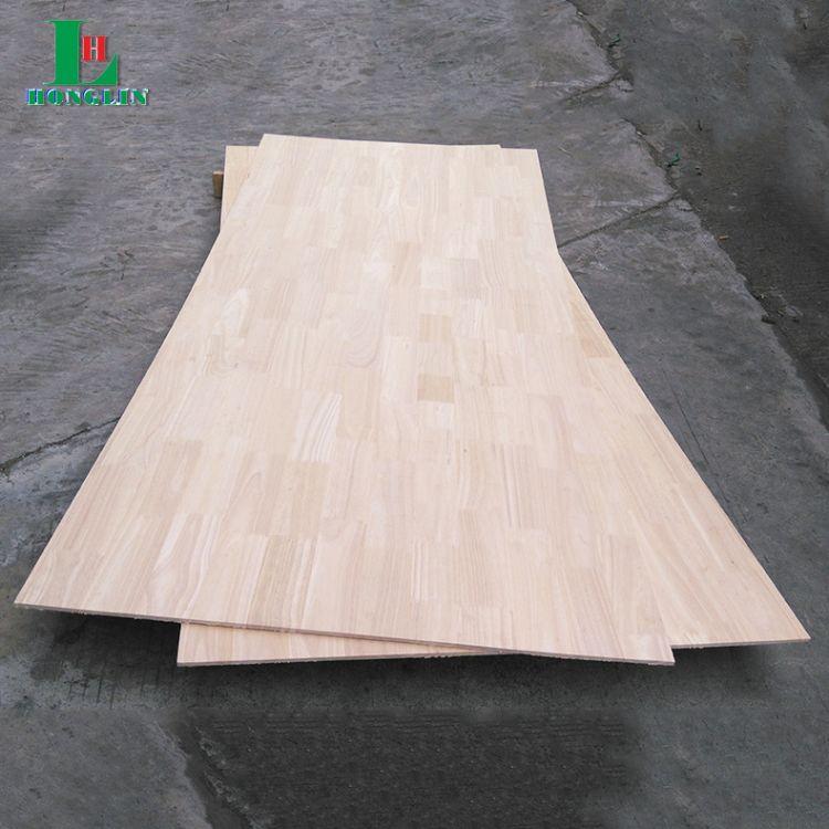 佛山橡胶木指接板9mm薄板定制 橡胶木直拼板 耐腐蚀家具实木板材加工