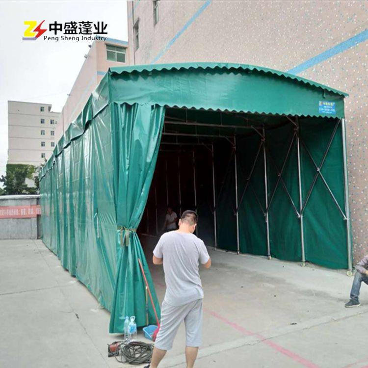 厂房工厂推拉雨棚中铁工地宵夜餐饮烧烤大排档推拉篷 停车篷雨篷