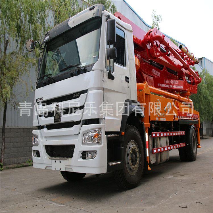 山东青岛科尼乐集团厂家直销30米中小型混凝土泵车臂架泵车包上牌