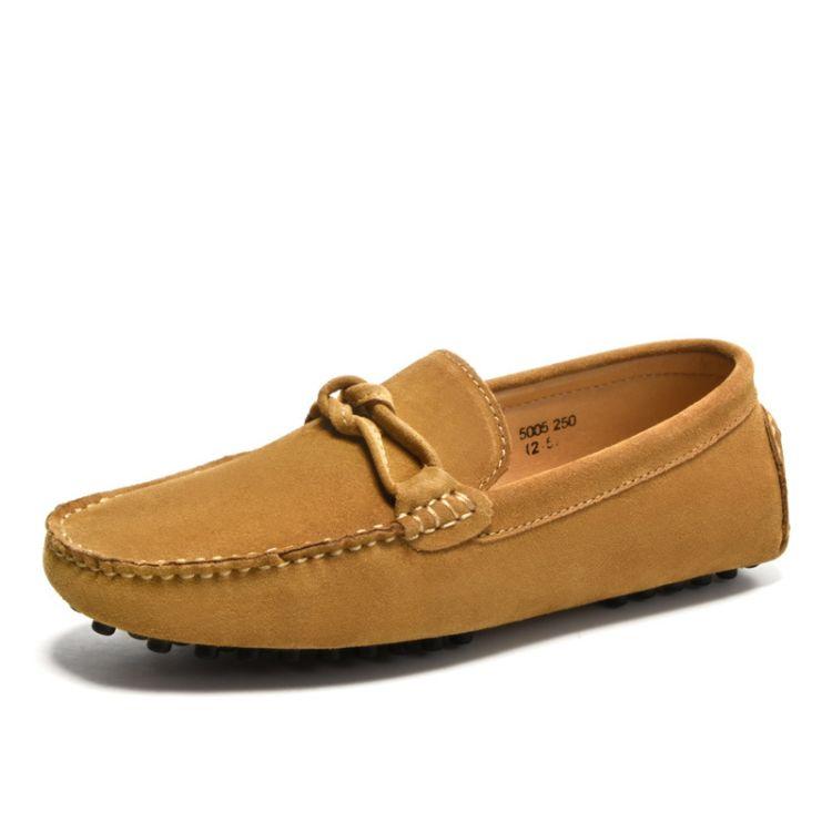 工厂批发纯手工缝制 男豆豆鞋反绒皮高质量男鞋支持贴牌来样加工