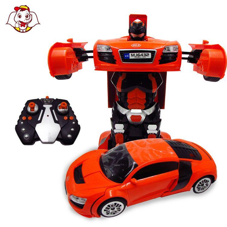 厂家直销创意自动变形汽车儿童电动万向玩具1:14仿真模型车批发