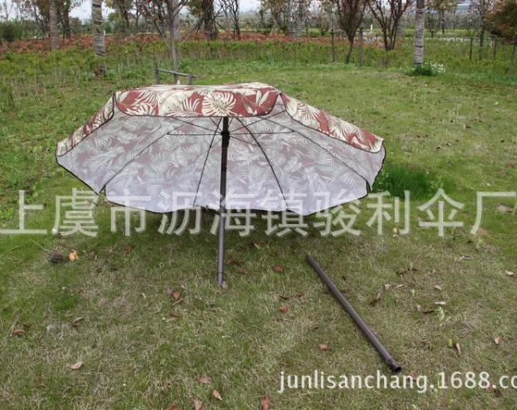 时尚迷彩折叠防紫外线遮阳伞户外高档加厚防风五彩沙滩伞