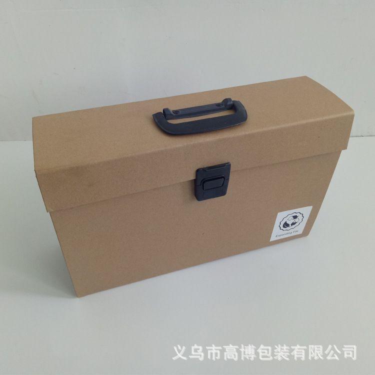 办公用品 牛皮纸多层风琴包手提文件包 9格办公风琴包 文件盒