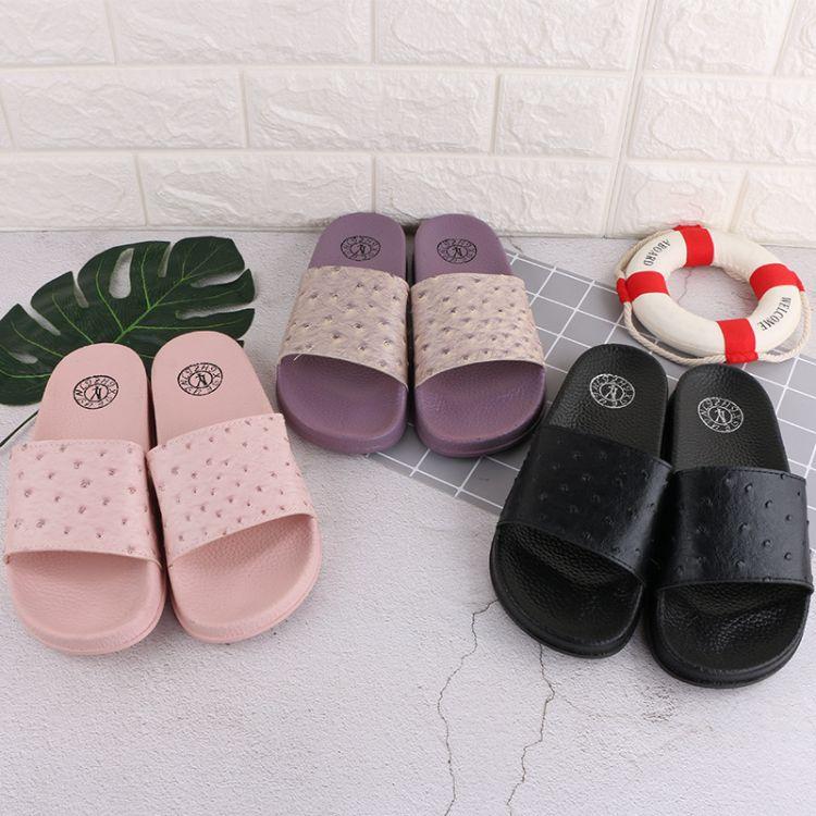 韩版外穿塑料防滑拖鞋休闲平底拖一字拖沙滩凉拖厂家直销