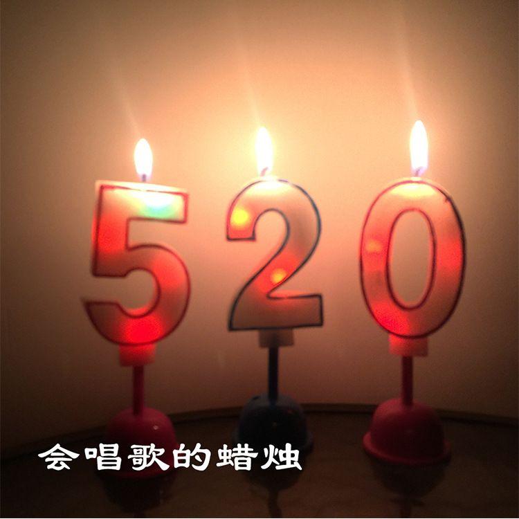 厂家直销数字led蜡烛灯 生日派对装饰无烟电子音乐浪漫告白数字蜡