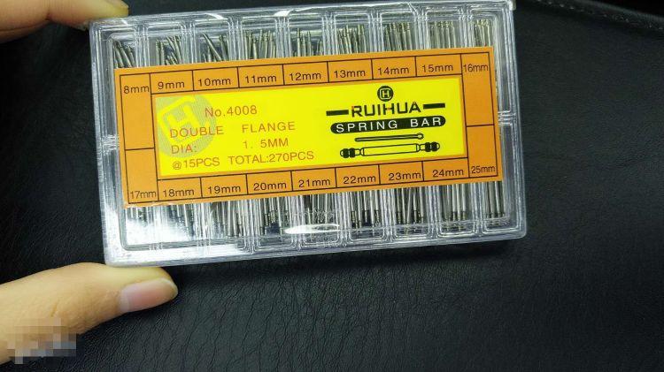 盒装手表生耳 表带弹簧针 手表配件 270根盒装表耳