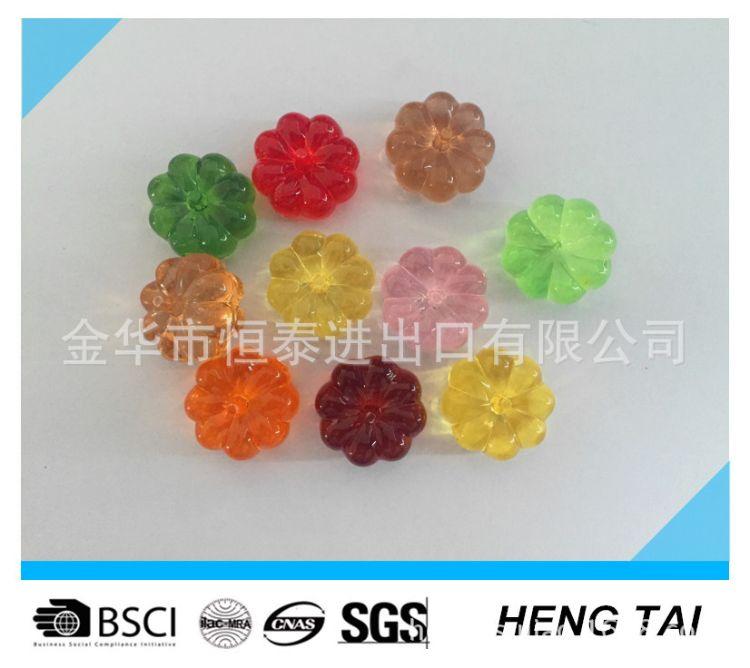 小南瓜丨塑料珠亚克力石不规则冰块花瓶鱼缸装饰品