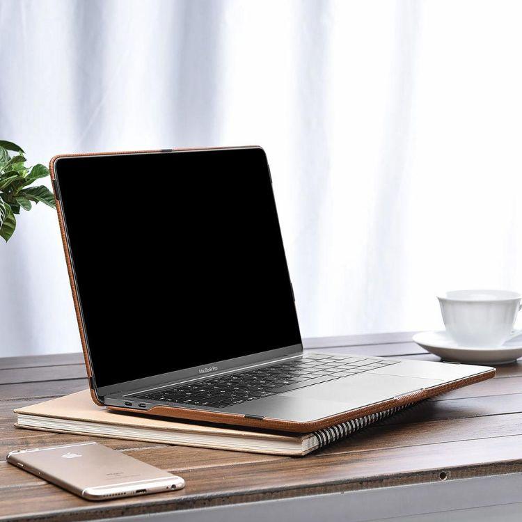 ICARER 适用于苹果笔记本超薄防摔壳 13寸 Macbook Pro保护套真皮