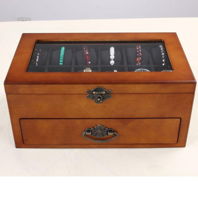 22位表盒 分格双层大容量手表盒收纳表盒工厂现货供应