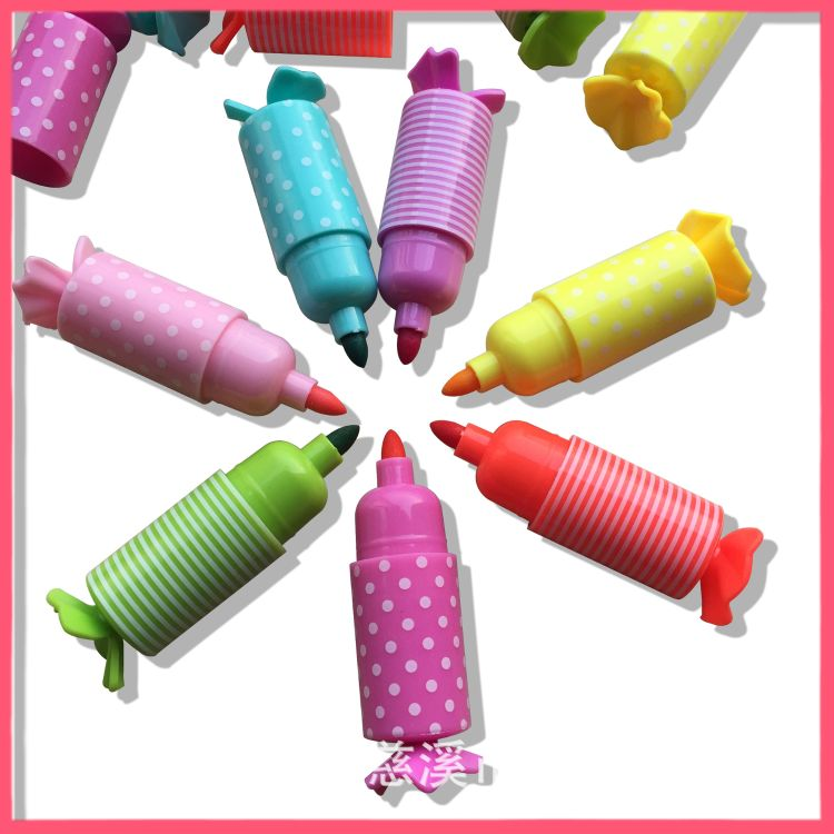 8色糖果造型香味水彩笔,创意儿童文具,儿童绘画涂鸦笔,造型笔