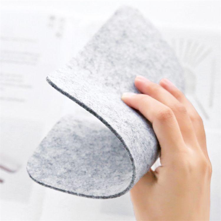 厂家定制简约方形毛毡鼠标垫创意笔记本电脑鼠标垫桌游戏鼠标垫子