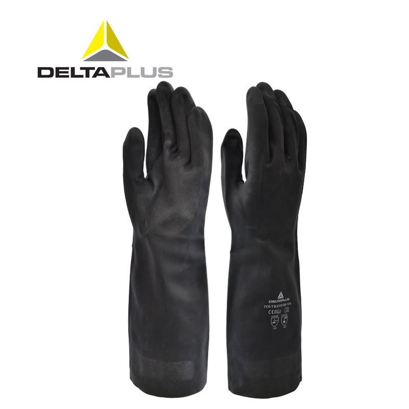 代尔塔201510手套氯丁橡胶耐酸碱耐热耐油石油化工塑料工业运输业