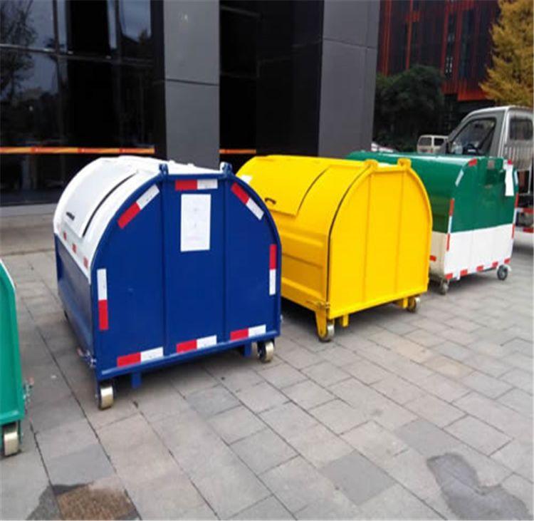 直銷戶外大型鐵質勾臂垃圾箱環衛垃圾桶鉤臂垃圾箱配套轉運箱貴州格拉瑞斯