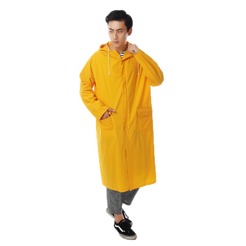 防水大衣雨披 时尚成人连体雨衣 防水单双贴户外雨衣 厂家直销