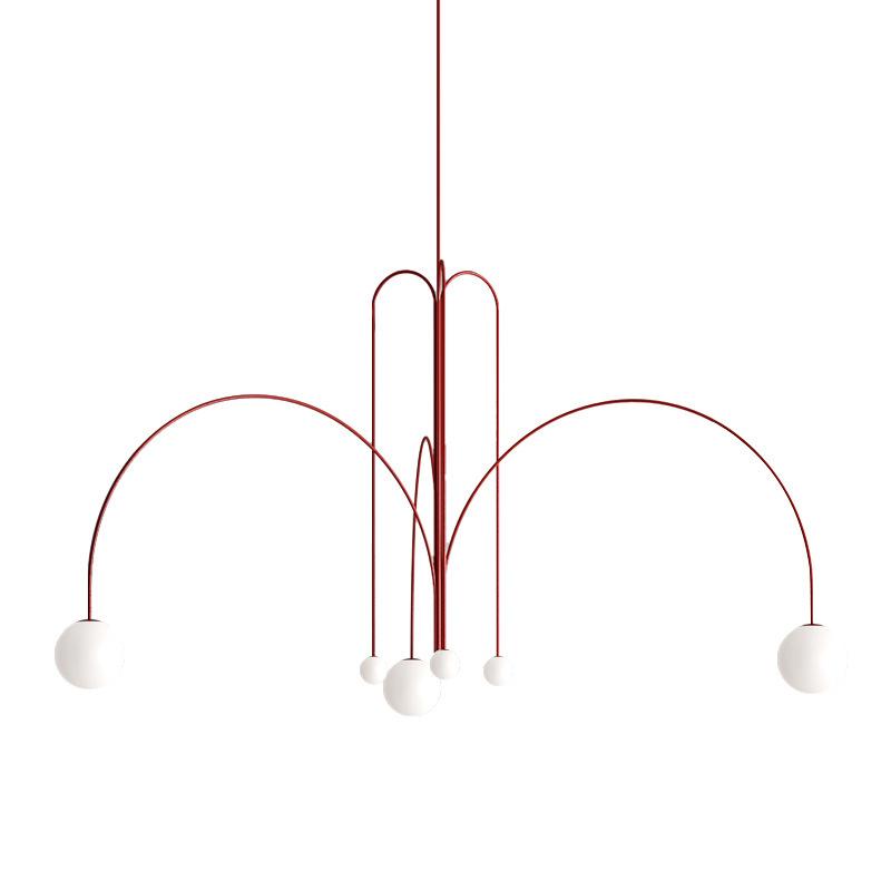 北欧创意吊灯 时尚个性软装设计师客厅吊灯 别墅样板间售楼部灯具内蒙古