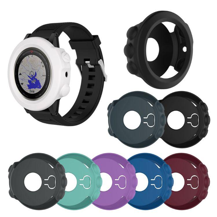 适用于Garmin佳明fenix5X智能手表 手环 硅胶保护壳 带防尘塞