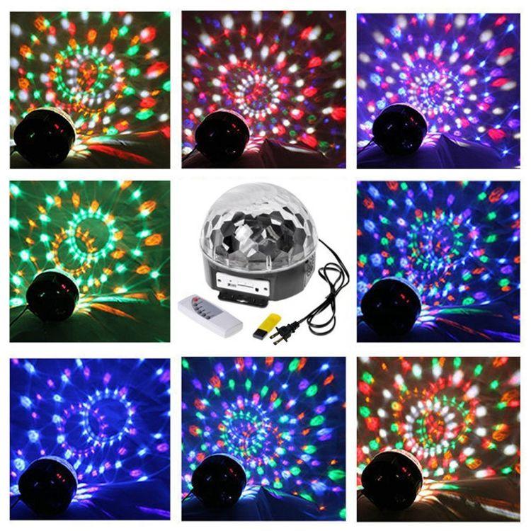 MP3音乐水晶魔球灯 声控自走 KTV包厢酒吧舞台灯 6色魔球 聚会灯