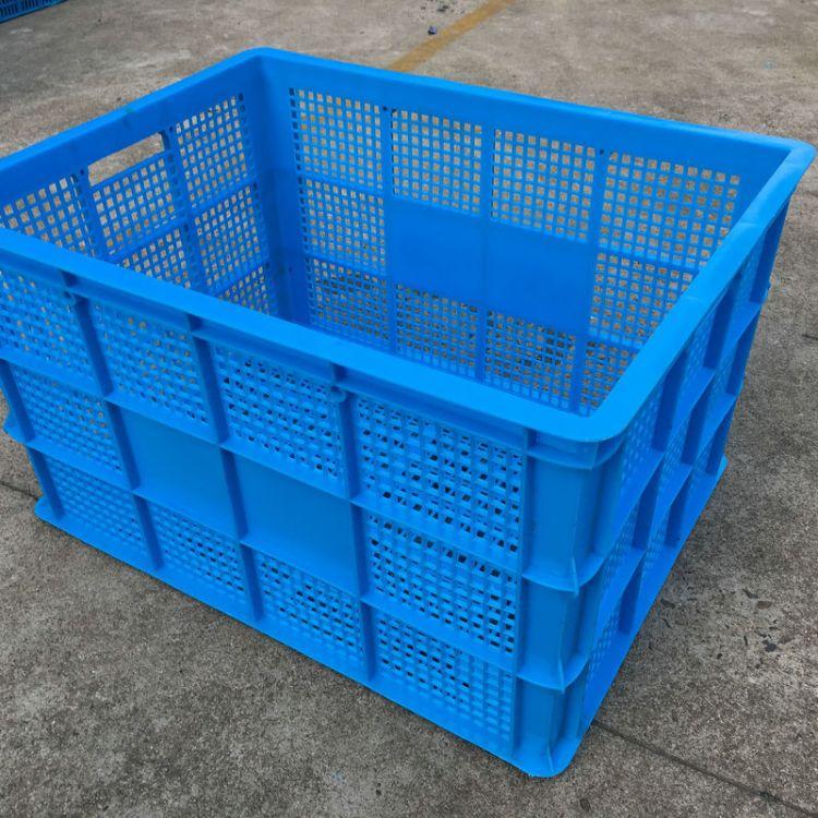 厂家现货 加厚加固大塑料筐 食品塑料周转筐 可堆式仓储物流箱