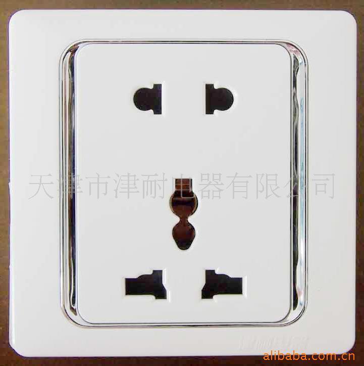 供应明装58系列墙壁插座 一开五孔二孔八孔插座 规格齐全