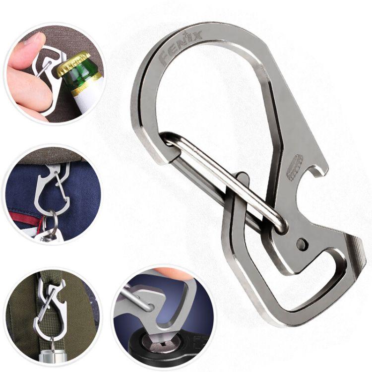 Fenix菲尼克斯ALB-20挂扣挂钩开瓶器女高档钛合金车钥匙扣男士
